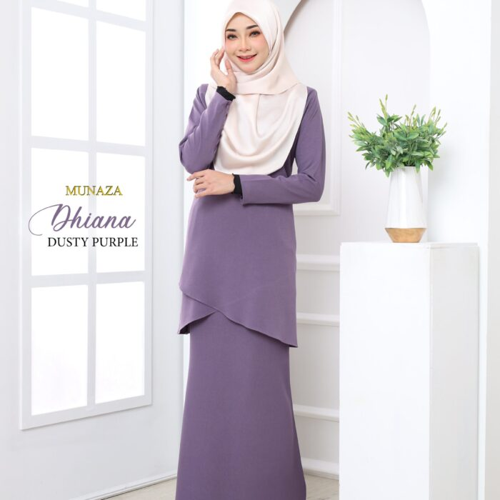 Kurung Dhiana (Dusty Purple)